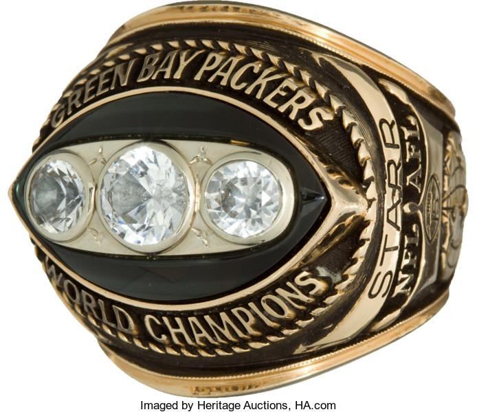 Super Bowl ring Bart Starr salesmans sample