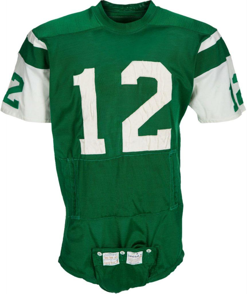Game used Joe Namath jersey