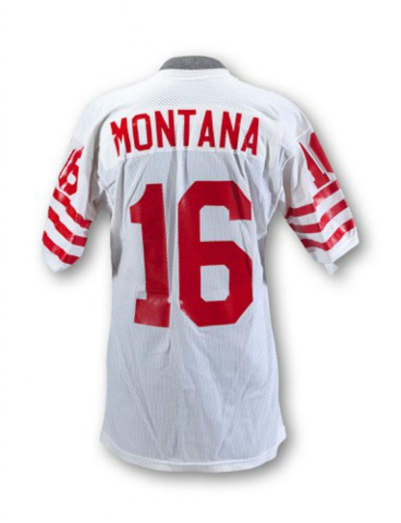Game worn Joe Montana jersey