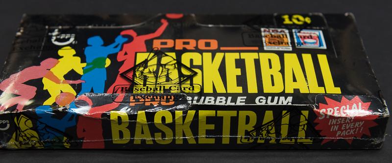 Topps 1971-72 basketball box