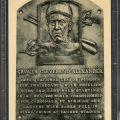 Signed Hall Fame postcard Grover Cleveland Alexander