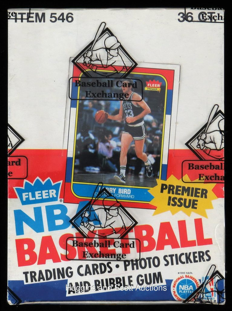 Fleer 1986-87 basketball wax box