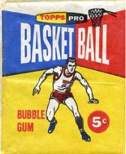 Topps 1957 basketball pack