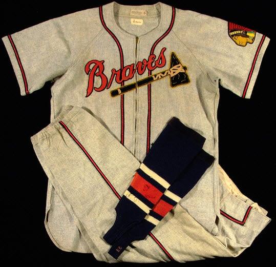 Boston Braves Johnny Sain uniform