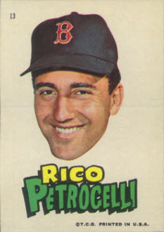 Rico Petrocelli 1967 Topps Stickers Red Sox
