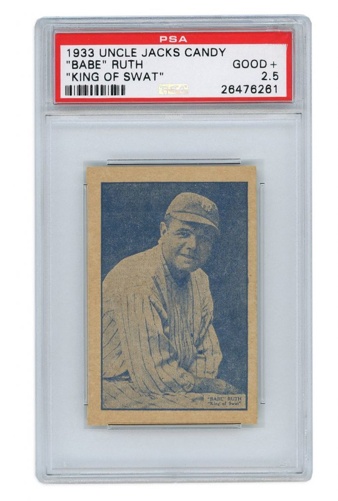 Babe Ruth 1933 Uncle Jacks candy card