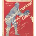 1914 Babe Ruth game program