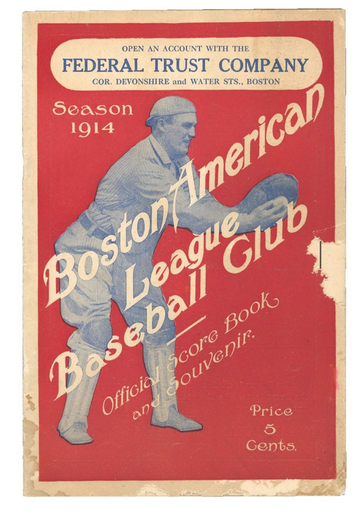 1914 Babe Ruth game program