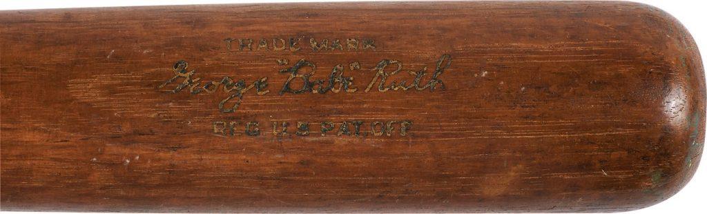 Babe Ruth bat 1931