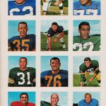 Wheaties 1964 football stamps