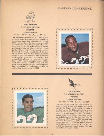 Wheaties 1964 football stamp album inside
