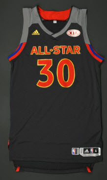 Steph Curry 2016-17 all star jersey