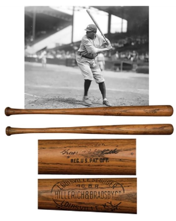 Babe Ruth game used home run bat