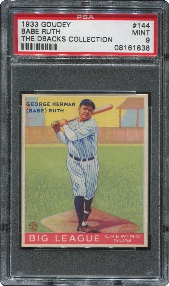 Babe Ruth 1933 Goudey PSA 9