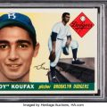Sandy Koufax rookie card 1955 Topps