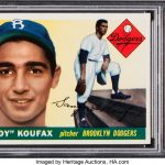 Sandy Koufax rookie card 1955 Topps