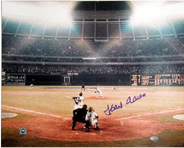 Signed Hank Aaron 715 photo