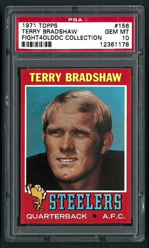 Terry Bradshaw 1971 Topps PSA 10