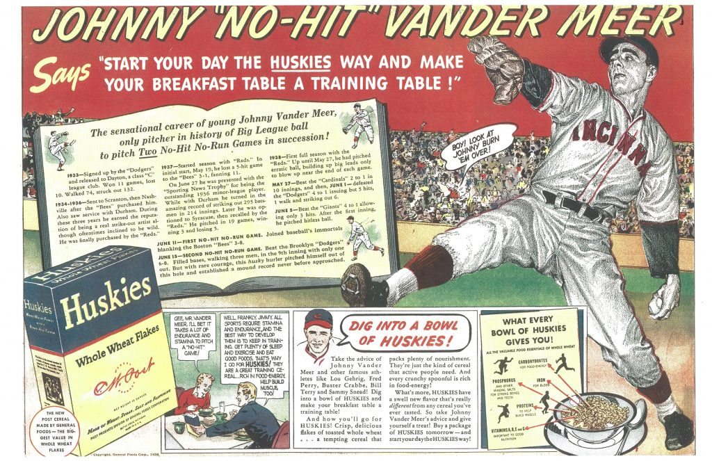 Johnny Vander Meer Huskies ad