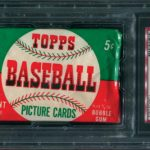 Topps 1952 baseball unopened pack