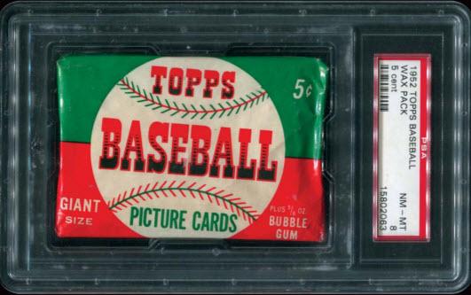 Topps 1952 baseball unopened pack