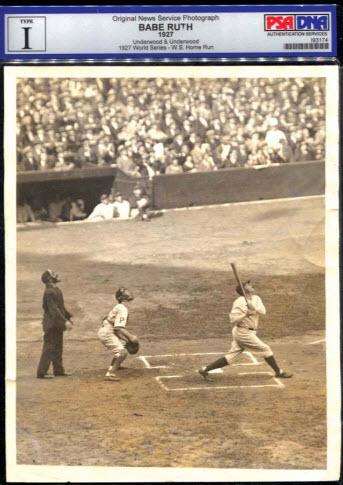 1927 World Series Babe Ruth Type 1 photo