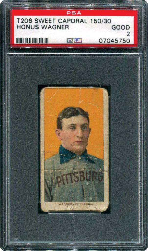 Honus Wagner PSA 2 Memory Lane Auction
