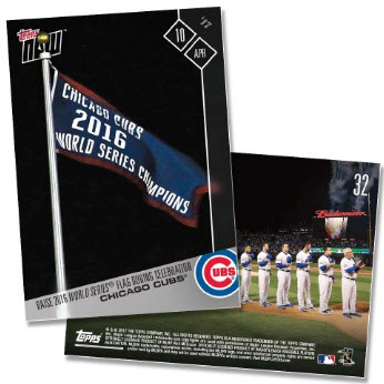 Topps NOW Cubs 2017 home opener cards