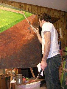 Baseball artist Graig Kreindler