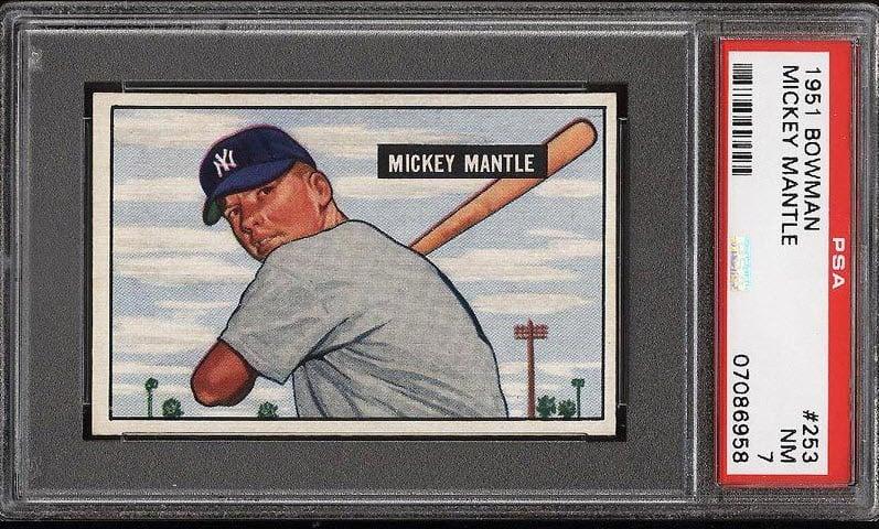 1951 Bowman Mickey Mantle PSA 7