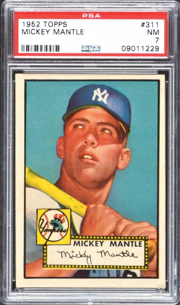 Mickey Mantle 1952 Topps PSA 7 near mint
