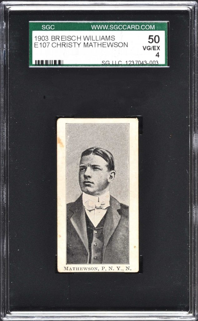 Christy Mathewson 1902 Breisch Williams card