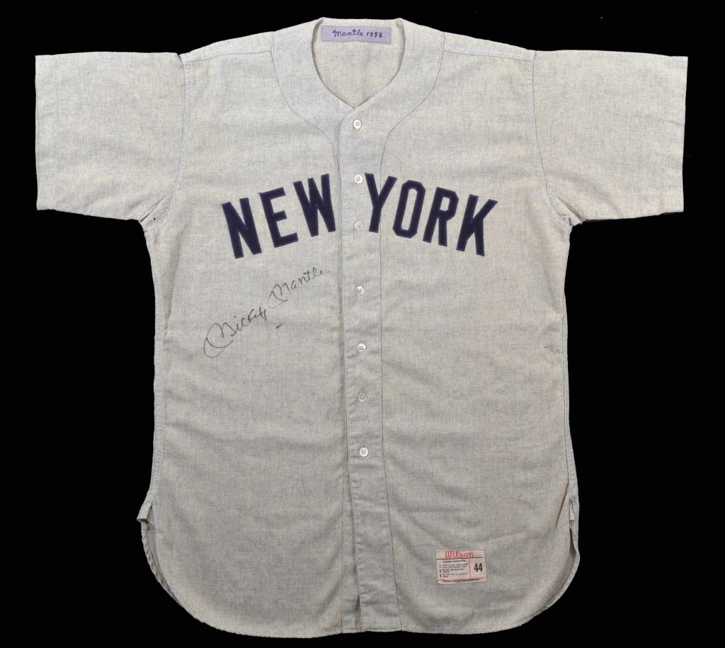 Game worn 1958 Mickey Mantle jersey