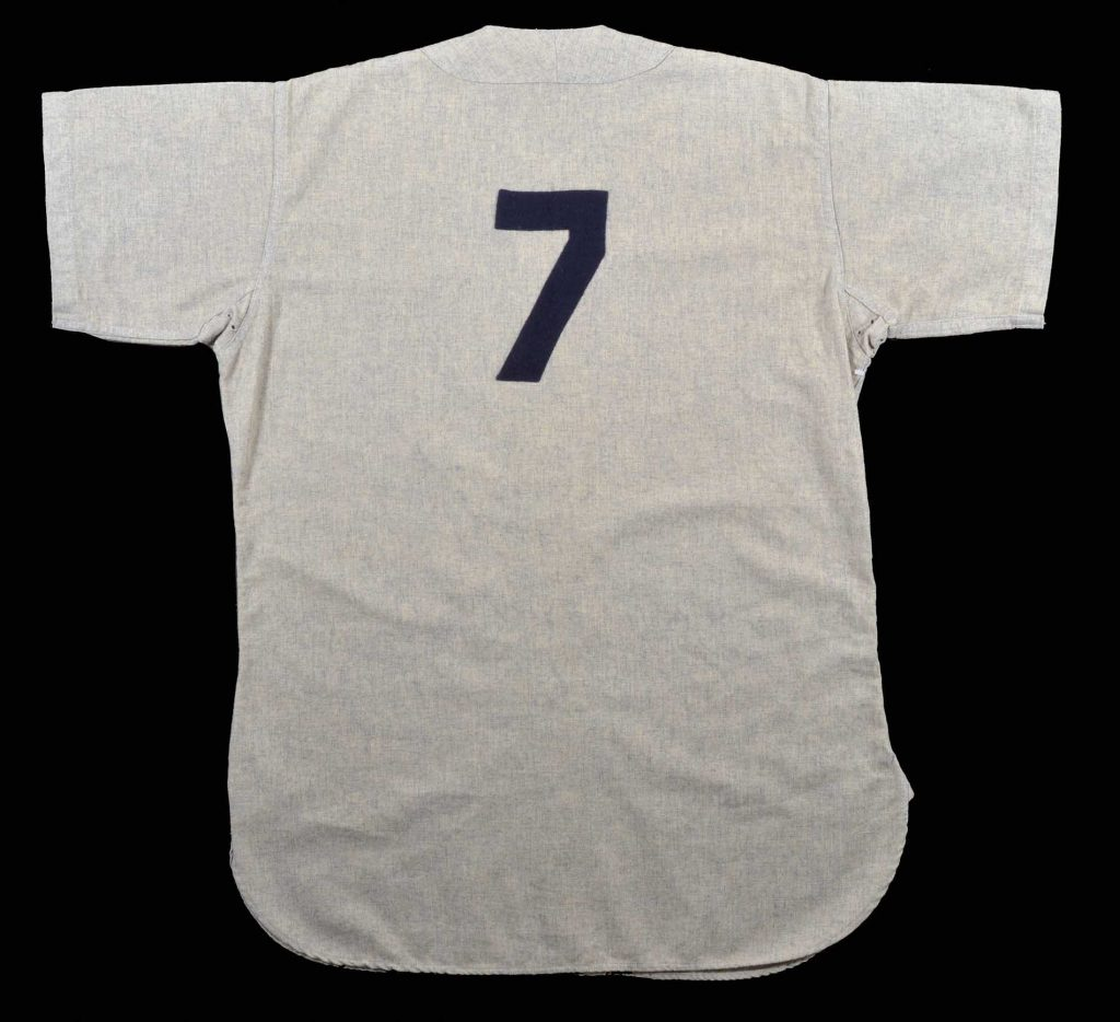 1958 Mickey Mantle road jersey