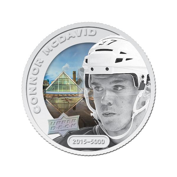 Upper Deck Grandeur hockey coin Connor McDavid