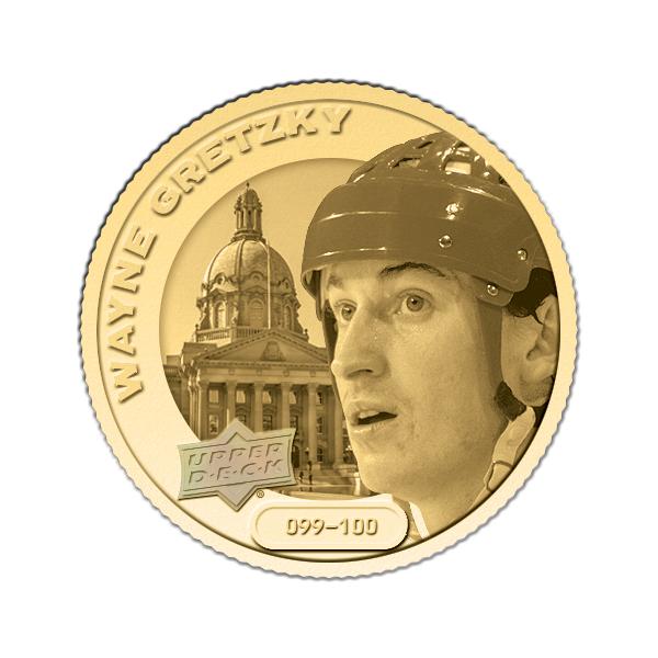 Upper Deck Grandeur hockey gold coin Wayne Gretzky