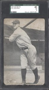 Lou Gehrig 1925 Exhibits