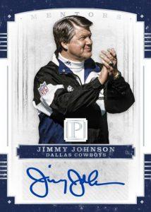 Jimmy Johnson auto 2017 Panini Pantheon Mentors