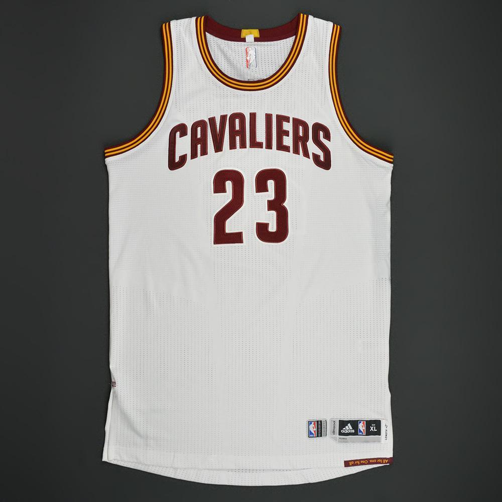 Game worn LeBron James playoff jersey 2016-17