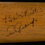 Lou Gehrig Babe Ruth autographed bat