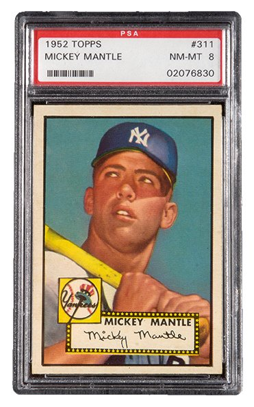 Mickey Mantle 1952 Topps PSA 8 Hunt Auctions