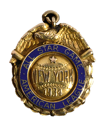 Lou Gehrig 1934 All Star pendant