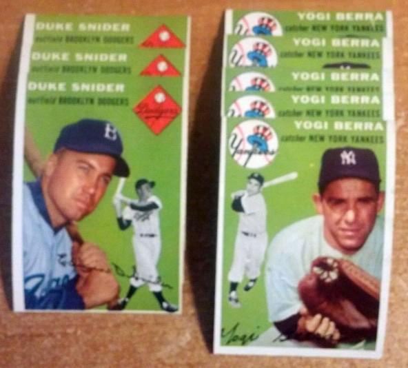 Duke Snider Yogi Berra baseball cards 1954 Topps