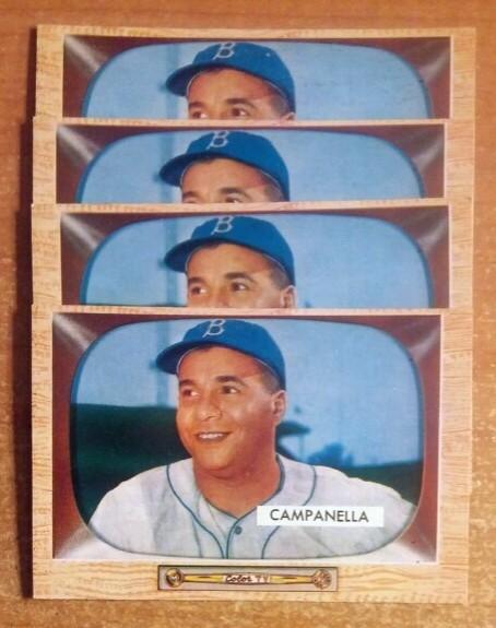 Roy Campanella baseball cards 1955 Bowman