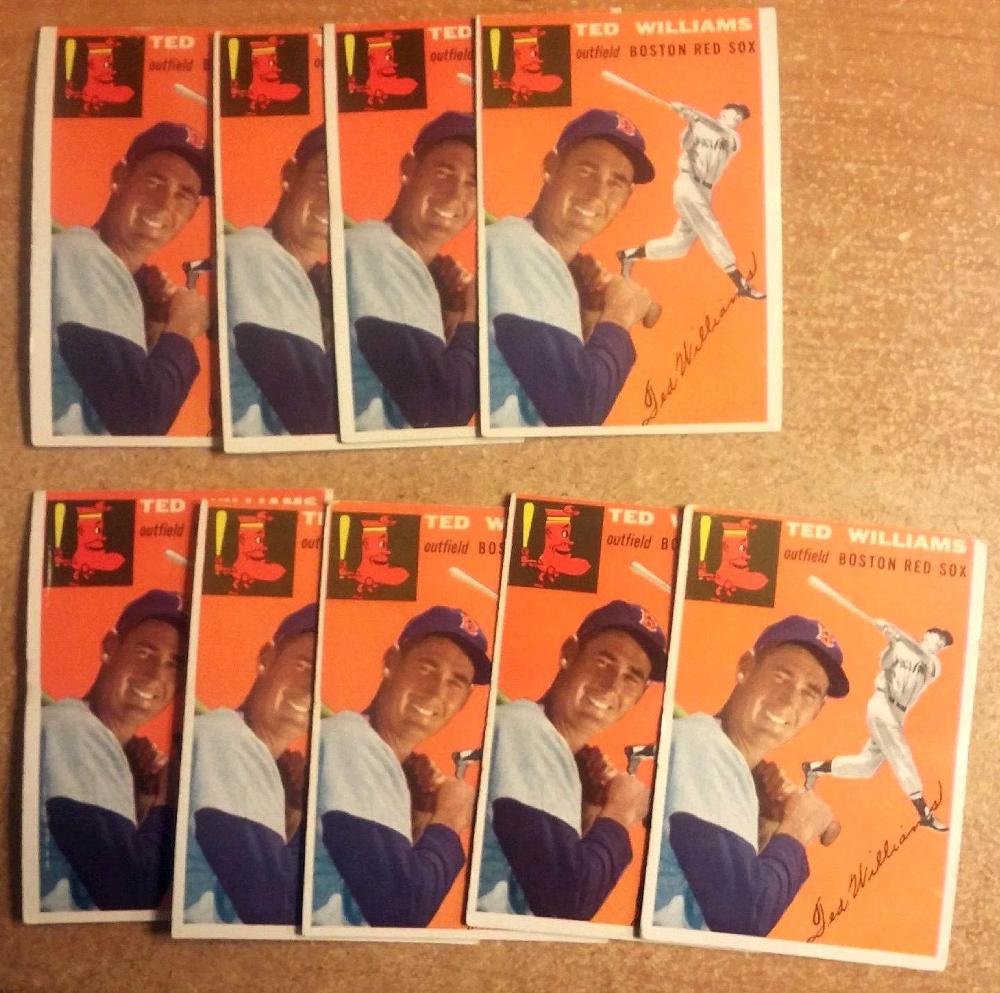 Ted Williams 1954 Topps cards