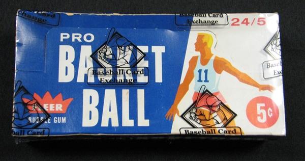 Fleer 1961-62 basketball box