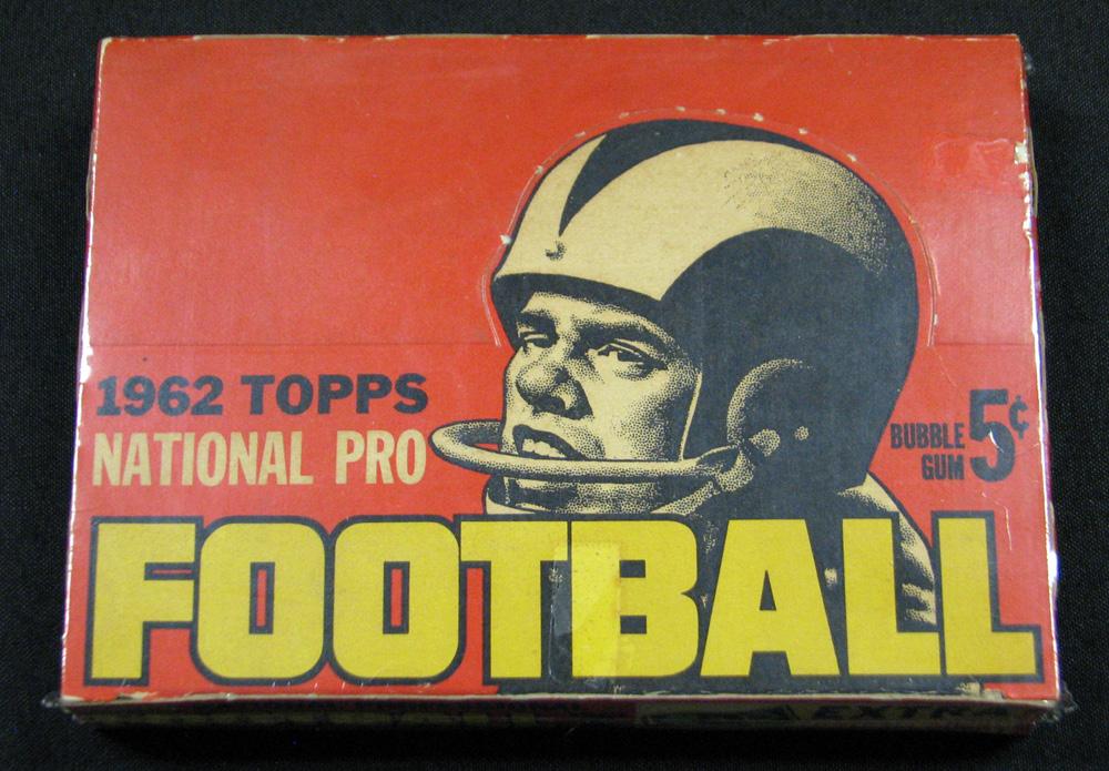 Topps football 1962 unopened box
