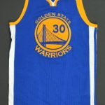 Steph Curry 2017 NBA Finals game worn jersey