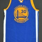 Steph Curry 2017 NBA Finals game worn jersey