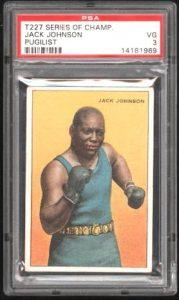 Jack Johnson 1912 T227 card